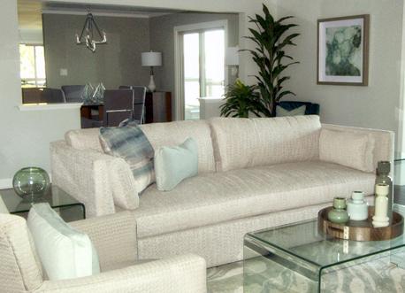 Living Room Real Estate Staging